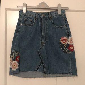 Zara high waisted Jean skirt